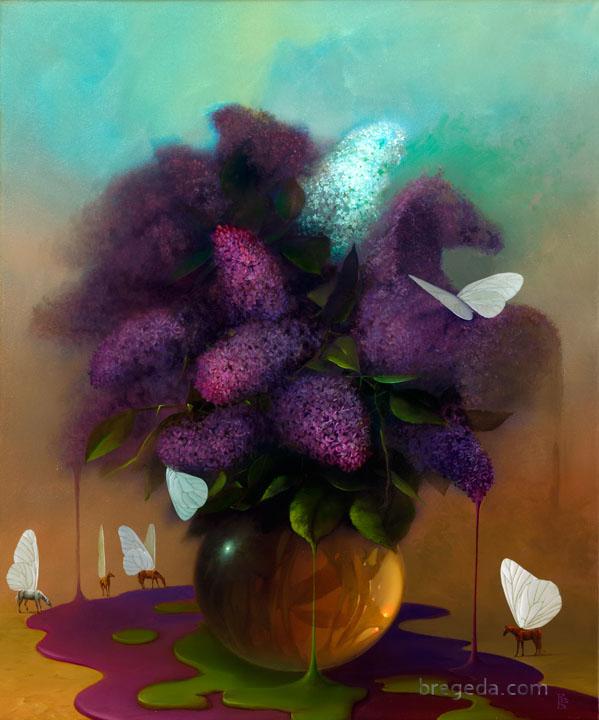 Victor Bregeda, Lavender Dreams - Floral Paintings