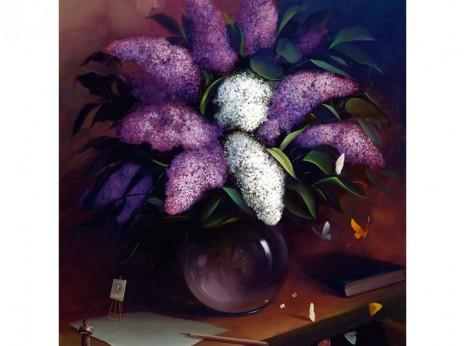 Victor Bregeda, Lilacs Self-Portrait